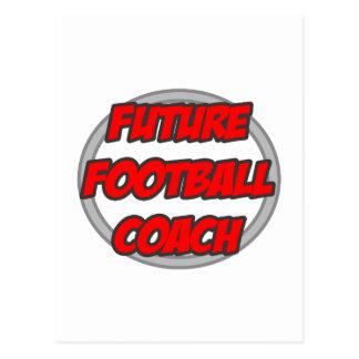 Entrenador de fútbol futuro tarjeta postal