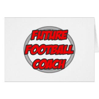 Entrenador de fútbol futuro tarjeton