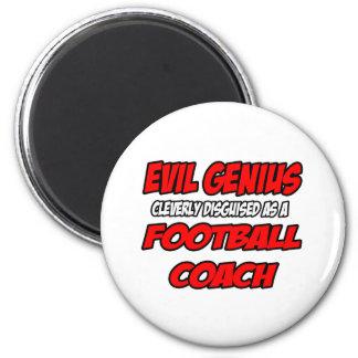 Entrenador de fútbol malvado del genio… imán para frigorifico