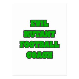 Entrenador de fútbol malvado del mutante tarjetas postales