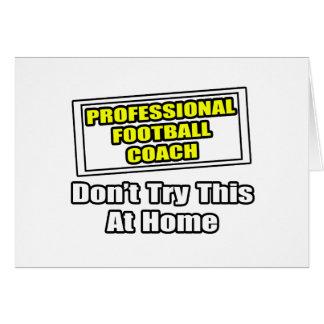 Entrenador de fútbol profesional felicitación