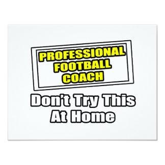 Entrenador de fútbol profesional. invitación 10,8 x 13,9 cm