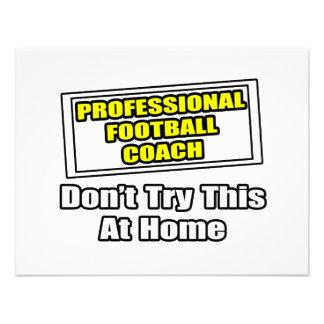 Entrenador de fútbol profesional anuncio personalizado