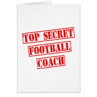 Entrenador de fútbol secretísimo tarjeta