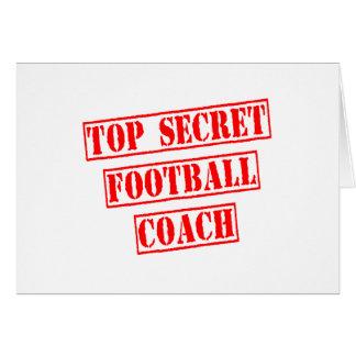 Entrenador de fútbol secretísimo tarjeta de felicitación