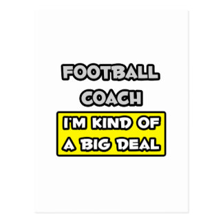Entrenador de fútbol. Soy un poco una gran cosa Tarjetas Postales