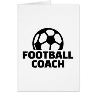 Entrenador de fútbol tarjeta de felicitación