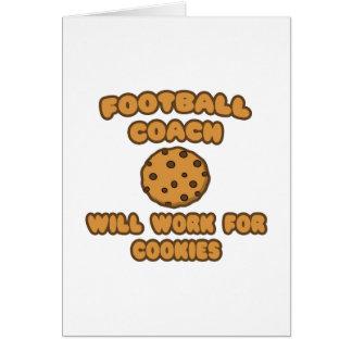 Entrenador de fútbol. Trabajará para las galletas Tarjeta De Felicitación
