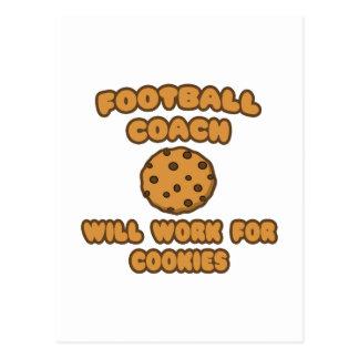 Entrenador de fútbol. Trabajará para las galletas Postales