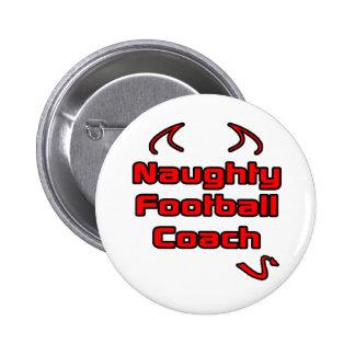 Entrenador de fútbol travieso pin
