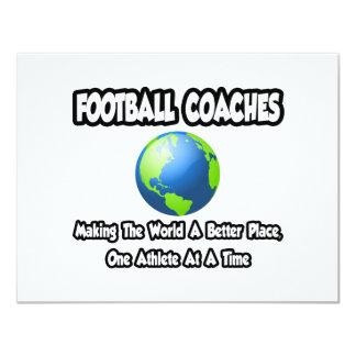 Entrenadores de fútbol… que hacen el mundo un invitación 10,8 x 13,9 cm