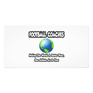 Entrenadores de fútbol… que hacen el mundo un mejo tarjetas fotográficas personalizadas