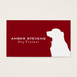 Entrenamiento canino del perro del primer el   tarjeta de visita