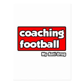 Entrenando fútbol… mi antinarcótico tarjetas postales