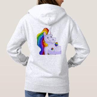 Entrerroscas afortunadas del unicornio sudadera
