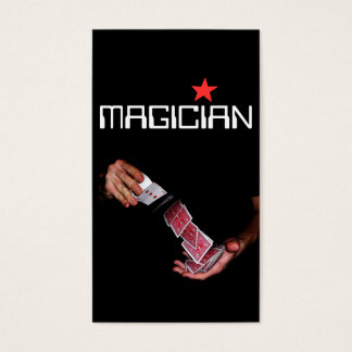 Entretenimiento mágico del truco del póker de la tarjeta de negocios