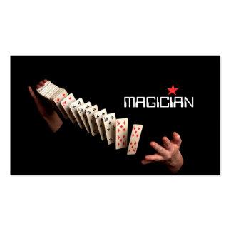 Entretenimiento mágico del truco del póker de la tarjetas de visita