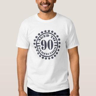 Envejecido a la perfección cumpleaños de 90 años - camiseta