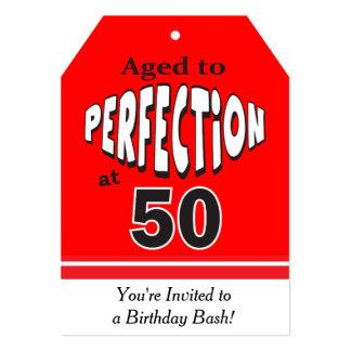 Envejecido a la perfección en el 50.o cumpleaños invitación 12,7 x 17,8 cm