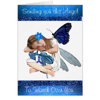 Enviándole este ángel, tarjeta de la ayuda de