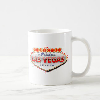 Enviciado a Las Vegas, muestra divertida de Nevada Taza Clásica