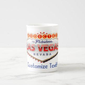 Enviciado a Las Vegas, muestra divertida de Nevada Taza De Porcelana