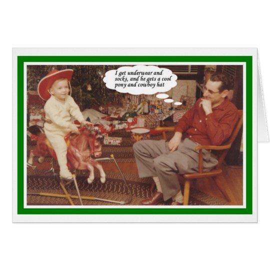 Envidia del navidad tarjeta de felicitación