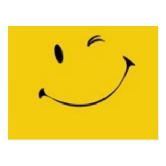 Envíe una sonrisa - postal sonriente de la cara