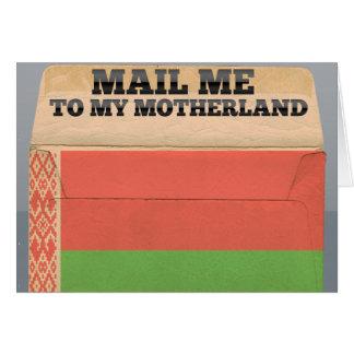 Envíeme a Bielorrusia Tarjeta Pequeña