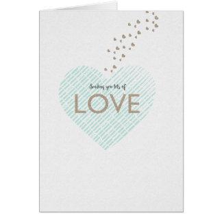 Envío de porciones de amor tarjeta pequeña
