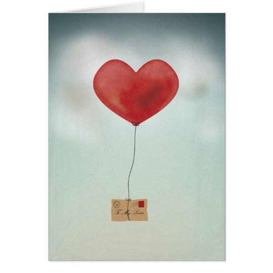Envío de su amor tarjeta de felicitación