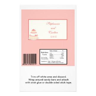 Envoltura grande color de rosa/de la nata del past folleto 14 x 21,6 cm