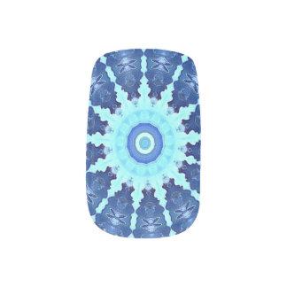 Envolturas Para Uñas Abrigos azules de las etiquetas del arte del clavo