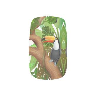 Envolturas Para Uñas Abrigos del arte del clavo de la selva de Toco