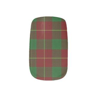 Envolturas Para Uñas Abrigos escoceses del clavo del tartán del clan de