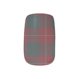Envolturas Para Uñas Abrigos escoceses leales del clavo del tartán del
