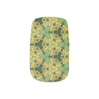 Envolturas Para Uñas Ala verde de la mariposa