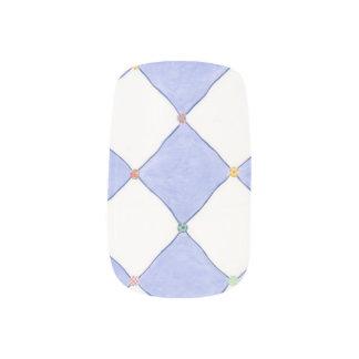 Envolturas Para Uñas Arte blanco del clavo de Lavendar de los diamantes