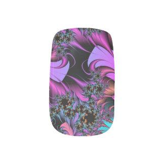 Envolturas Para Uñas Arte femenino del clavo del fractal de las plumas