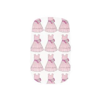 Envolturas Para Uñas Arte rosado nupcial del clavo del vestido del