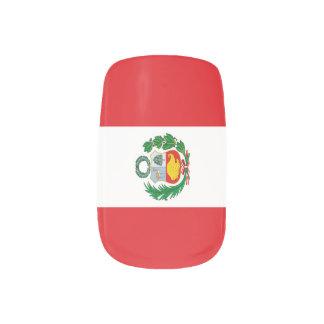 Envolturas Para Uñas Bandera de Perú