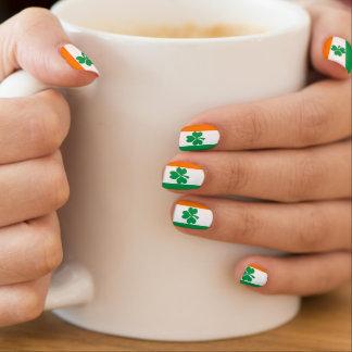 Envolturas Para Uñas Bandera del trébol de Irlanda