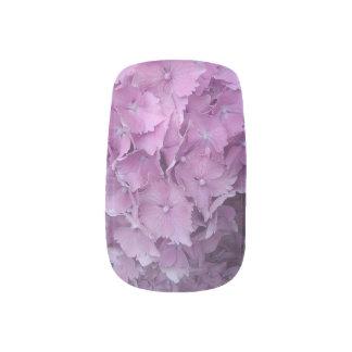 Envolturas Para Uñas bonito en etiquetas rosadas del clavo