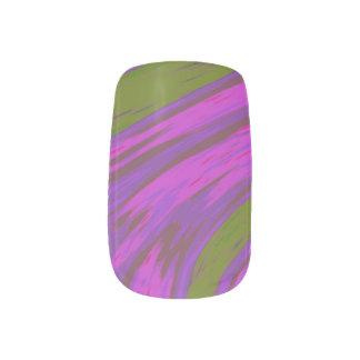 Envolturas Para Uñas Chasquido púrpura del color verde