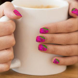 Envolturas Para Uñas Chasquido rosado brillante del color verde