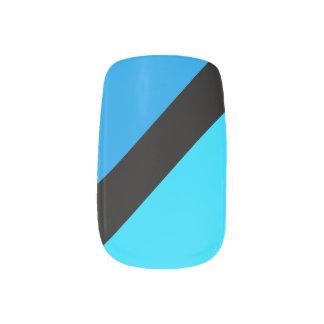 Envolturas Para Uñas Clavos rayados de la moza descarada de los azules