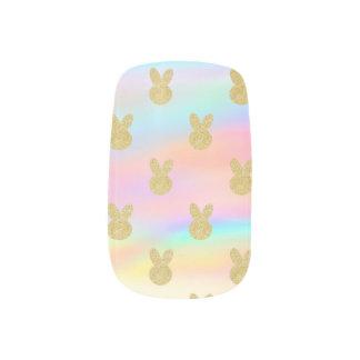 Envolturas Para Uñas Conejito en colores pastel del brillo