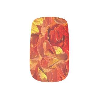 Envolturas Para Uñas Dalia de lujo anaranjada