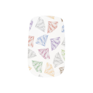 Envolturas Para Uñas Diamantes coloridos para mi amor