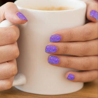 Envolturas Para Uñas Flor de la mandala en azul claro y púrpura